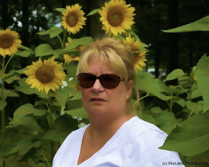 Denise in Sunflower Field