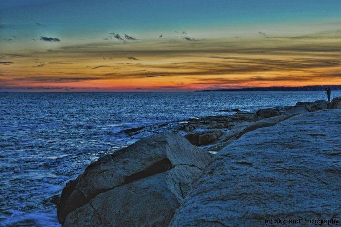 York Beach Sunset