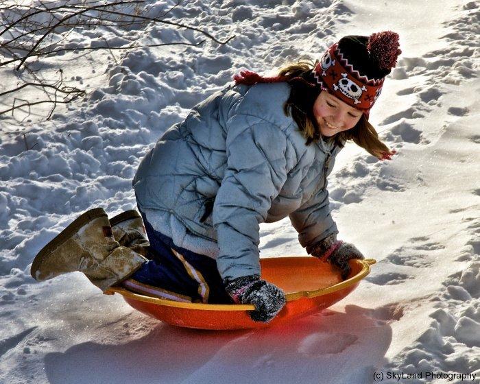 Livie Flying Downhill