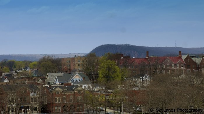 New Haven Skyline to East Rock
